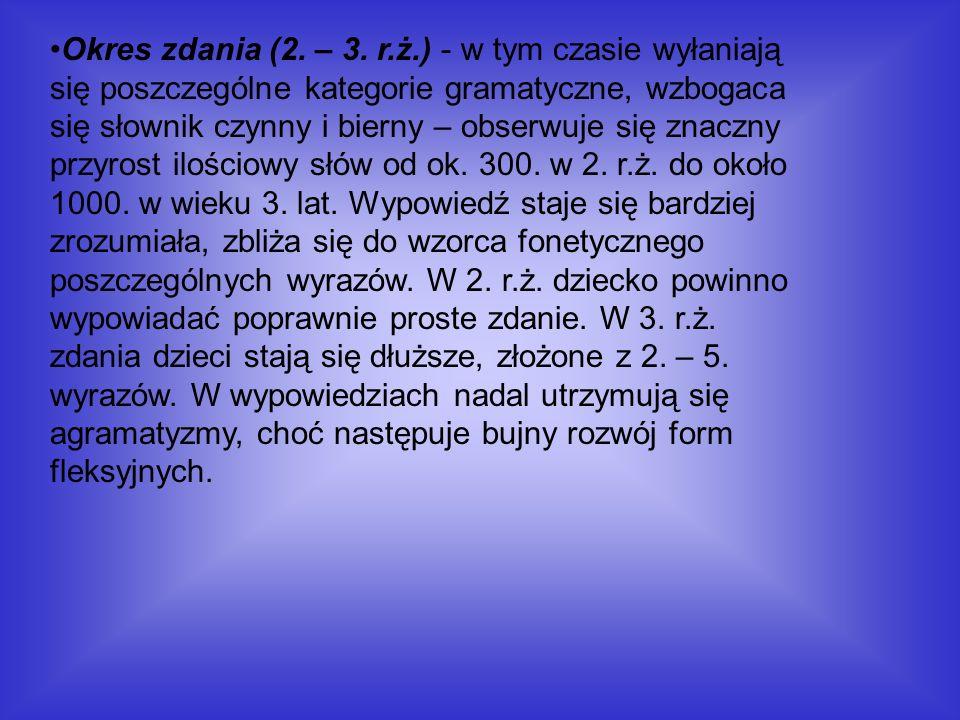 Okres zdania (2. – 3.