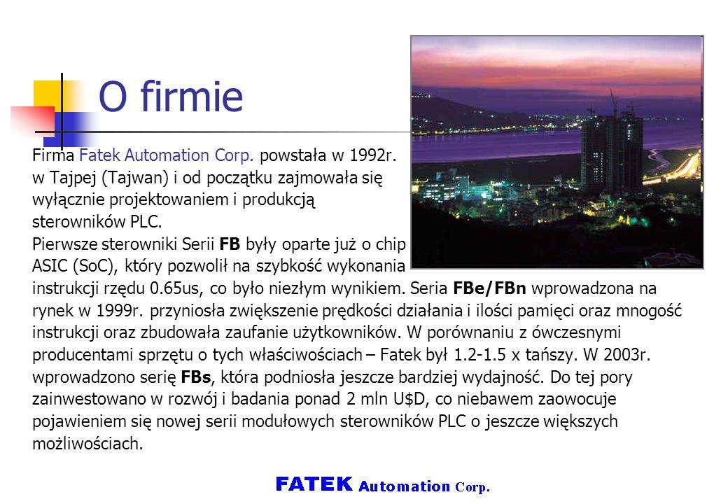 O firmie Firma Fatek Automation Corp. powstała w 1992r.