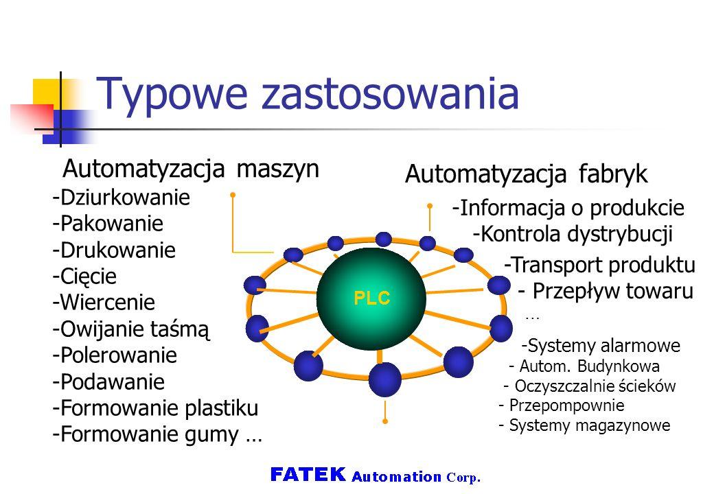 Typowe zastosowania Automatyzacja maszyn Automatyzacja fabryk