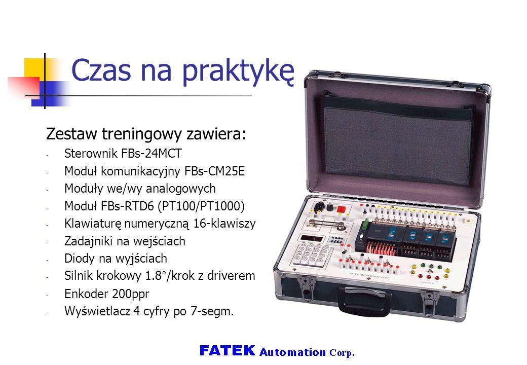 Czas na praktykę Zestaw treningowy zawiera: Sterownik FBs-24MCT
