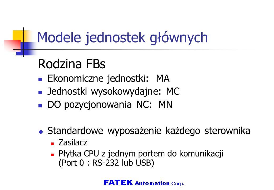 Modele jednostek głównych