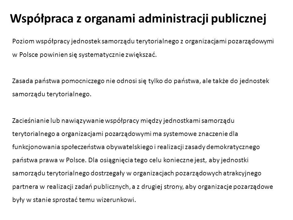 Współpraca z organami administracji publicznej