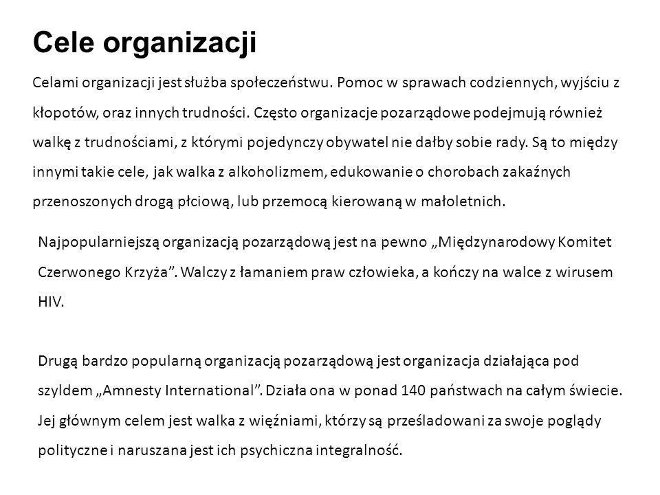Cele organizacji
