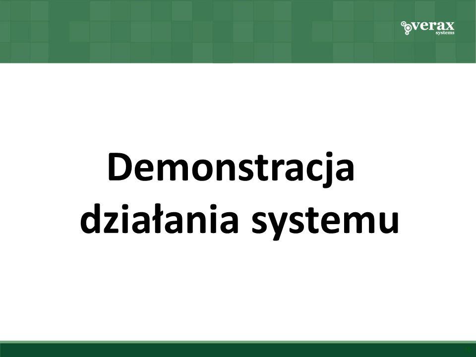 Demonstracja działania systemu