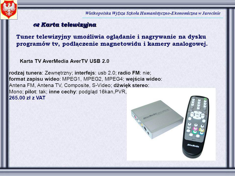 Tuner telewizyjny umożliwia oglądanie i nagrywanie na dysku