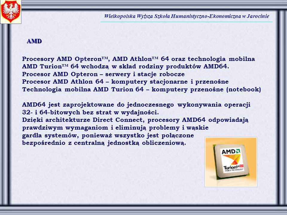 Procesory AMD Opteron™, AMD Athlon™ 64 oraz technologia mobilna