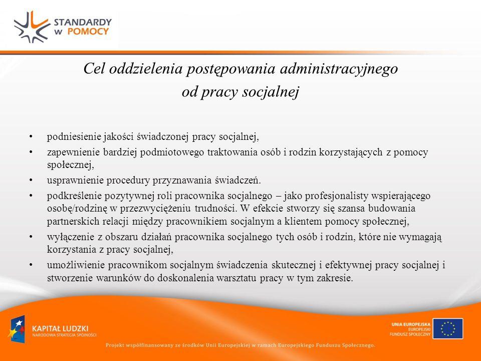 Cel oddzielenia postępowania administracyjnego