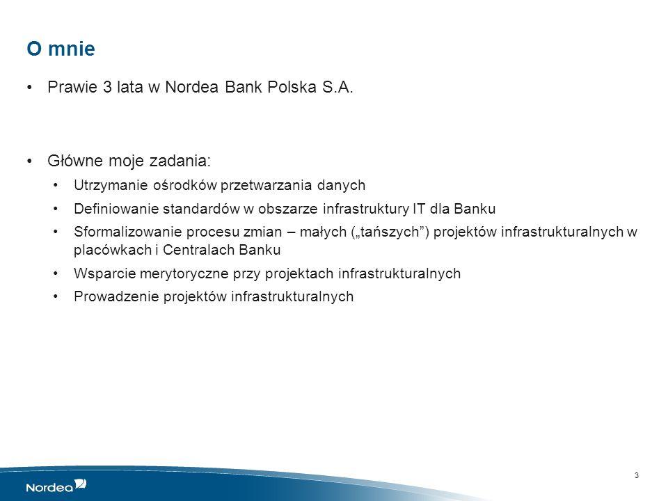 O mnie Prawie 3 lata w Nordea Bank Polska S.A. Główne moje zadania: