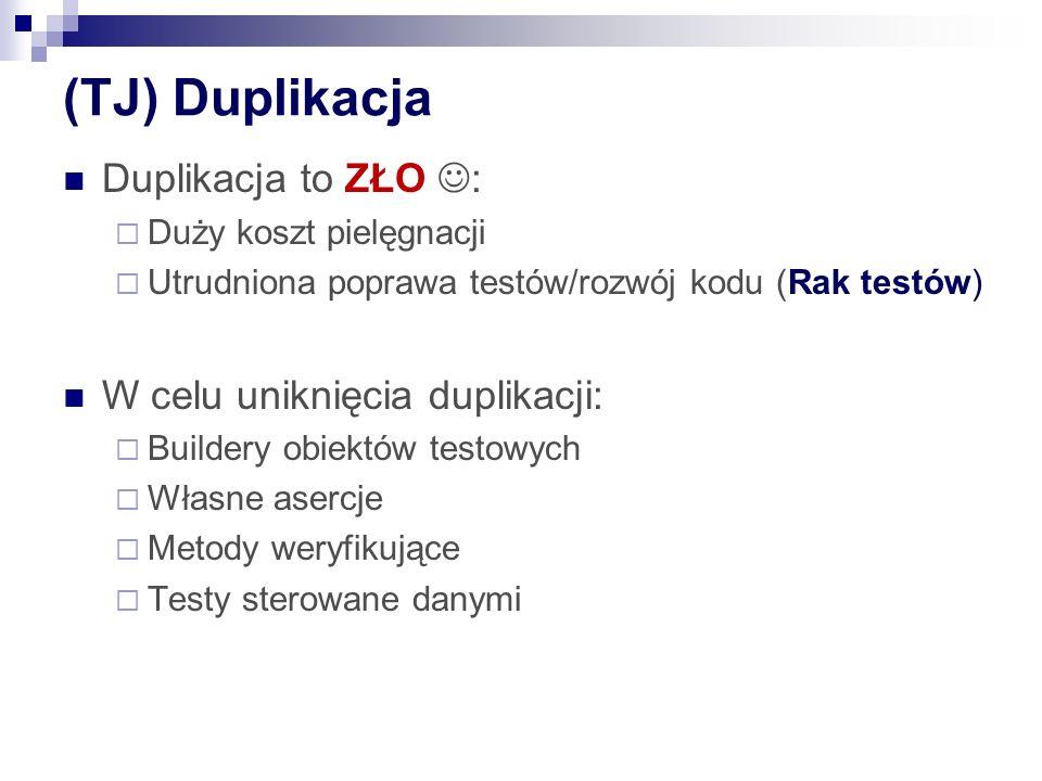 (TJ) Duplikacja Duplikacja to ZŁO : W celu uniknięcia duplikacji: