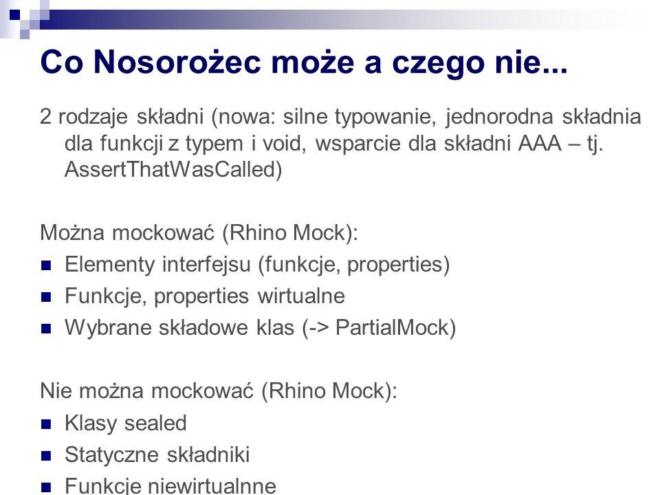 Co Nosorożec może a czego nie...