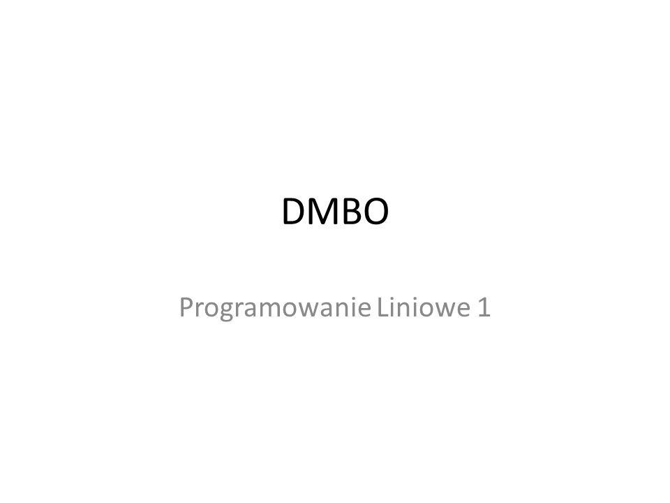 Programowanie Liniowe 1