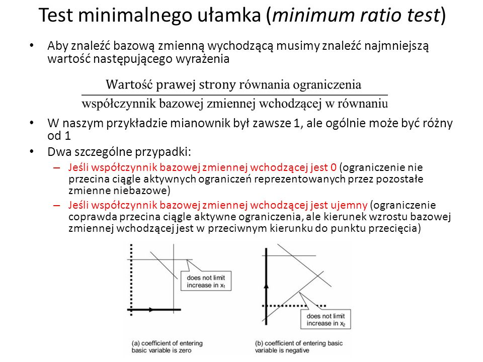 Test minimalnego ułamka (minimum ratio test)