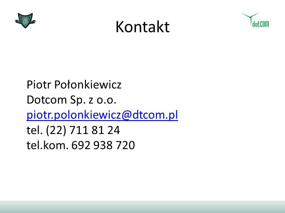 Kontakt Piotr Połonkiewicz Dotcom Sp. z o.o.