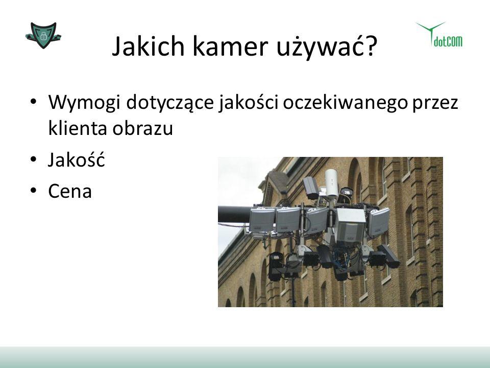 Jakich kamer używać Wymogi dotyczące jakości oczekiwanego przez klienta obrazu Jakość Cena