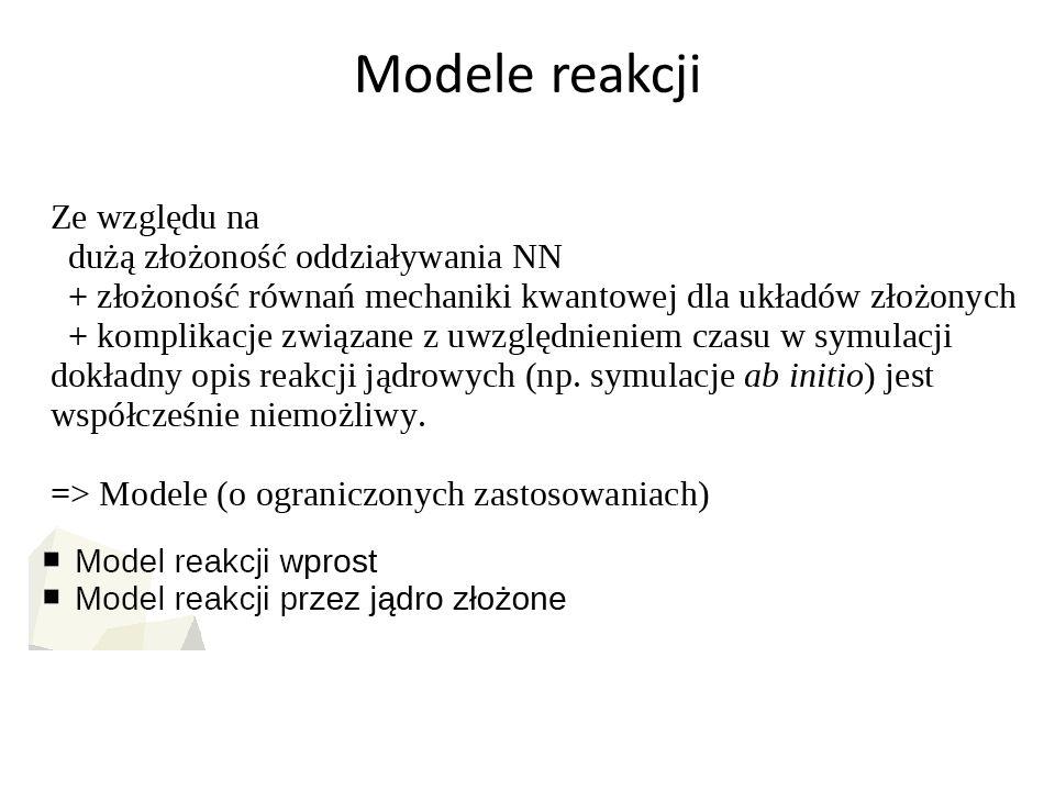 Modele reakcji
