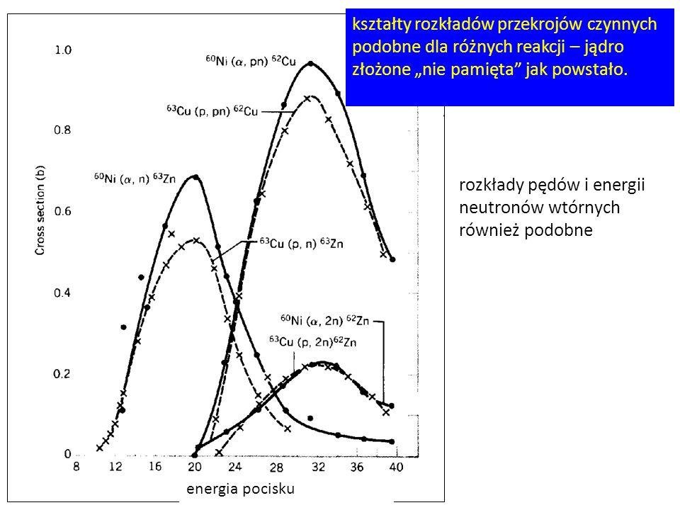rozkłady pędów i energii neutronów wtórnych również podobne