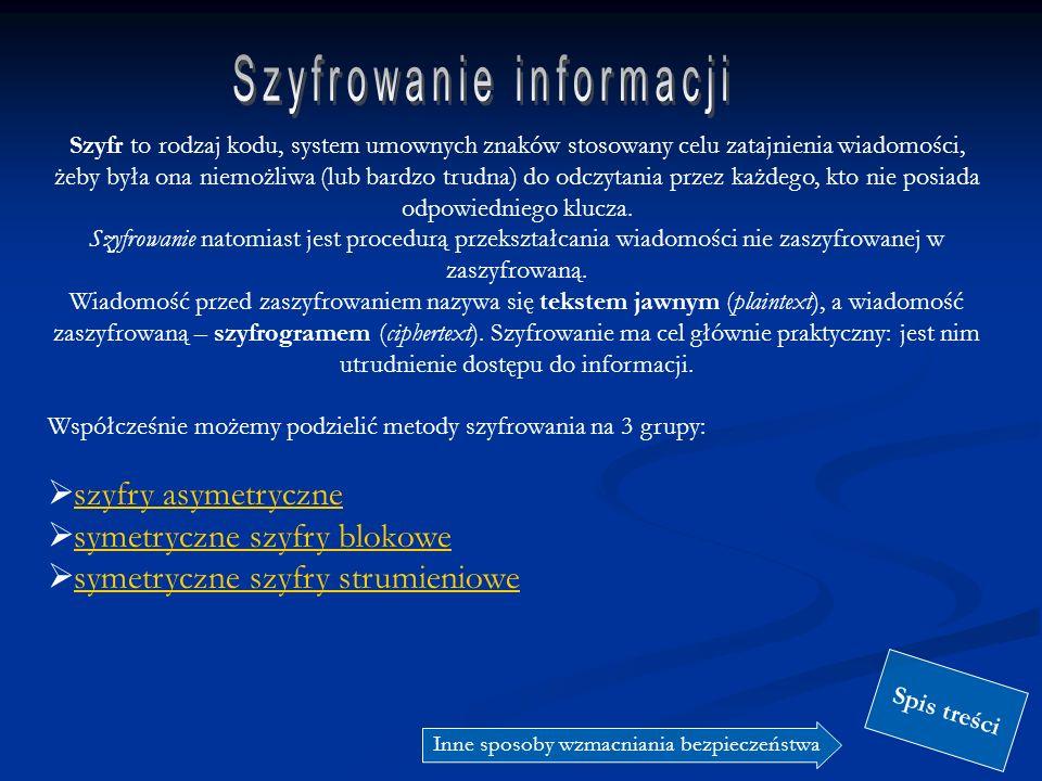 Szyfrowanie informacji
