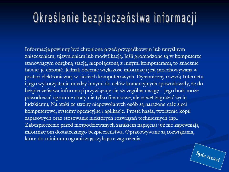 Określenie bezpieczeństwa informacji