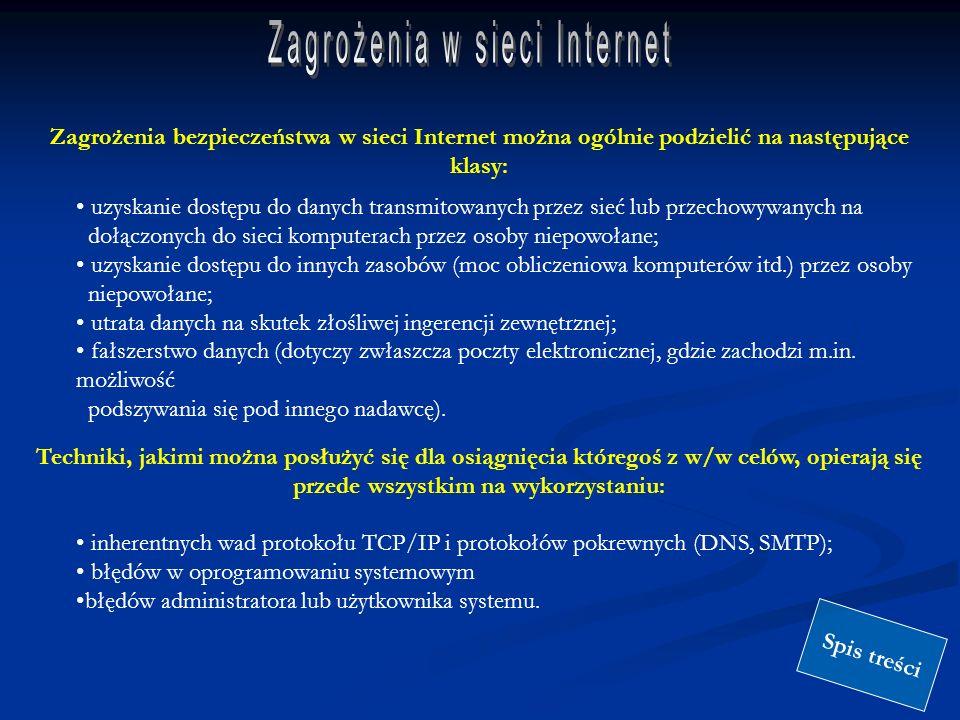 Zagrożenia w sieci Internet