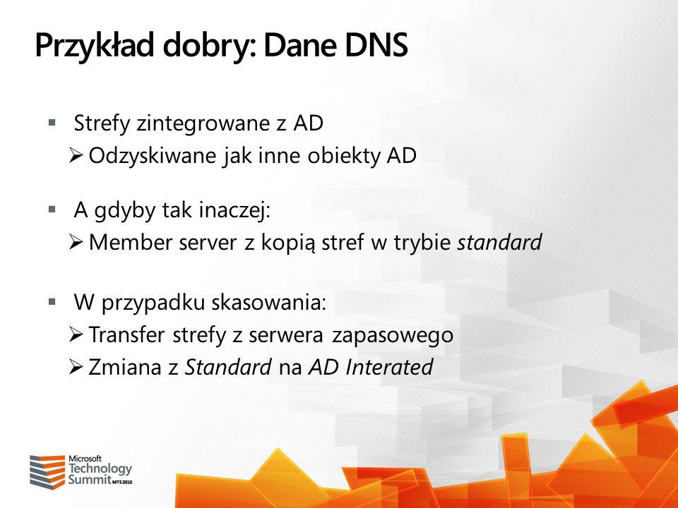 Przykład dobry: Dane DNS