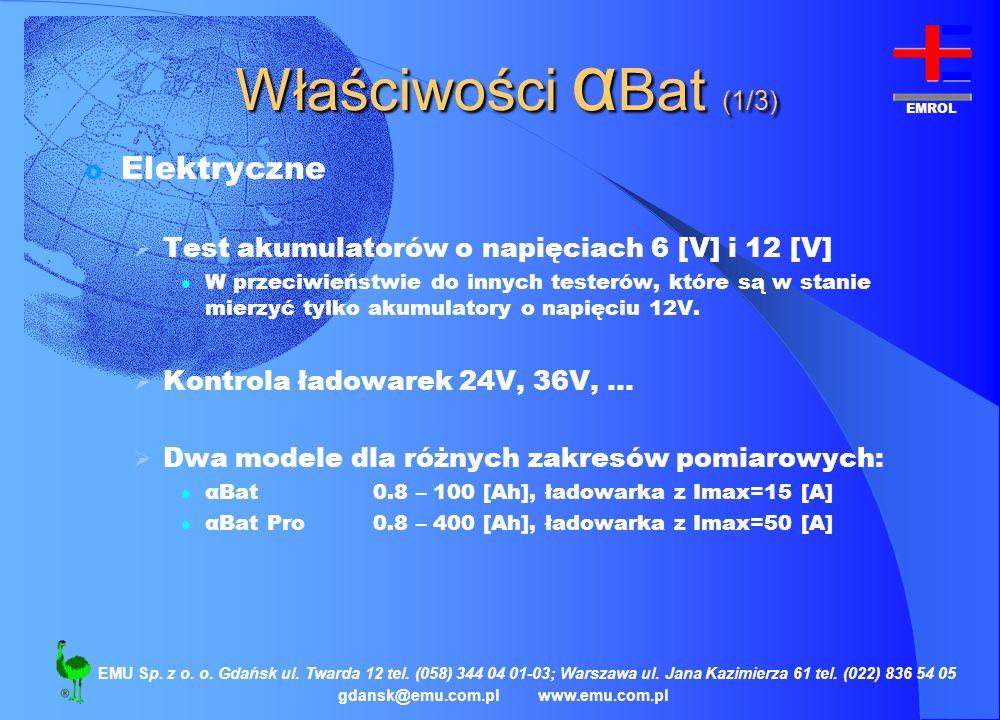 Właściwości αBat (1/3) Elektryczne