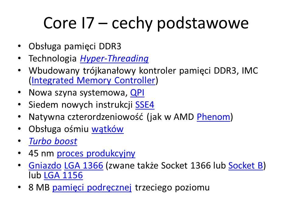Core I7 – cechy podstawowe