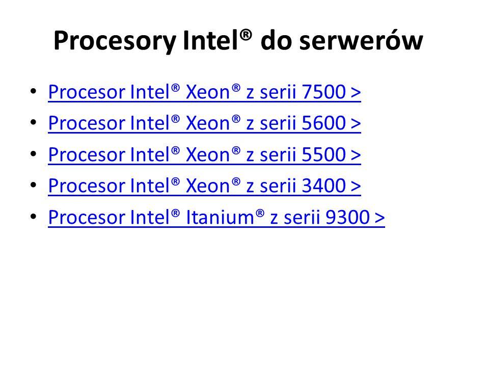 Procesory Intel® do serwerów