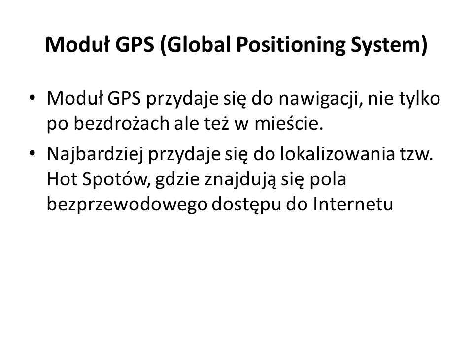 Moduł GPS (Global Positioning System)