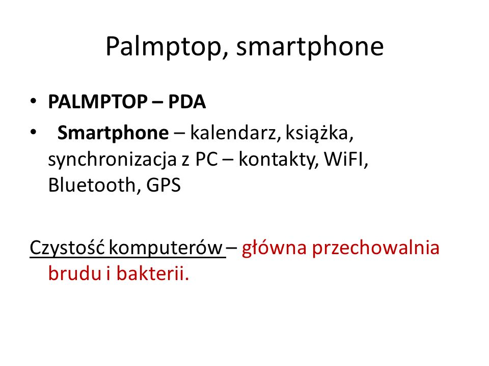 Palmptop, smartphone PALMPTOP – PDA