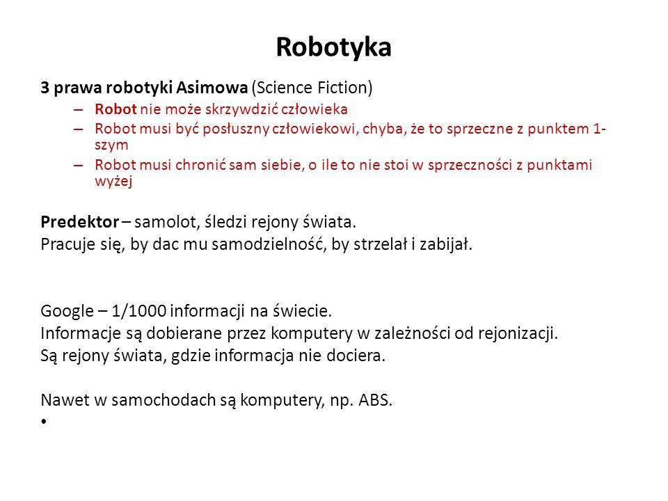 Robotyka 3 prawa robotyki Asimowa (Science Fiction)