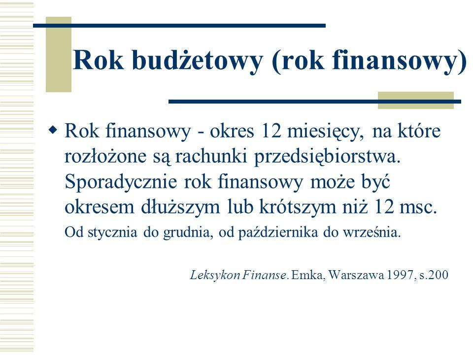 Rok budżetowy (rok finansowy)