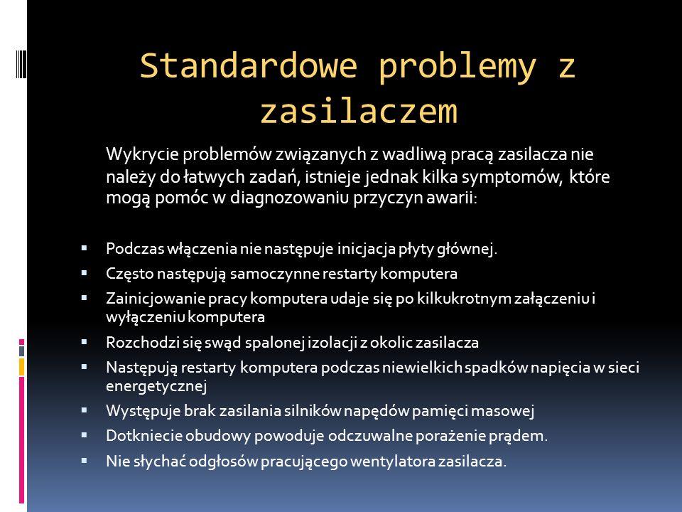 Standardowe problemy z zasilaczem
