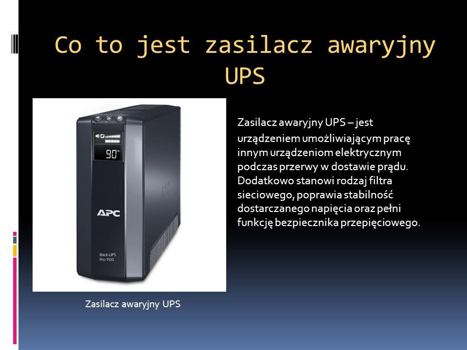 Co to jest zasilacz awaryjny UPS