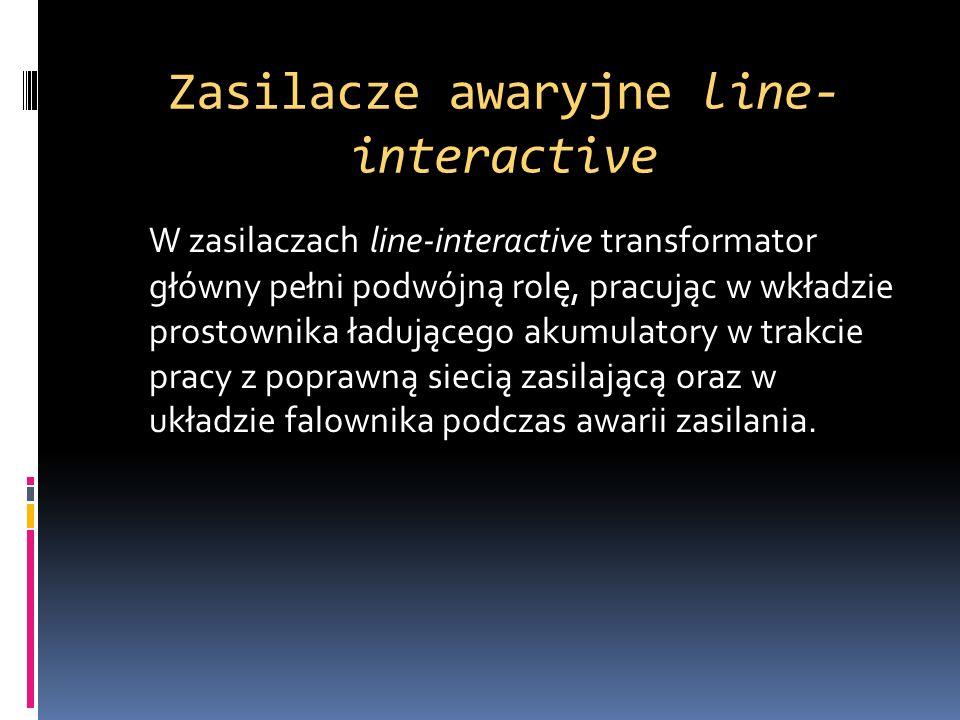 Zasilacze awaryjne line-interactive