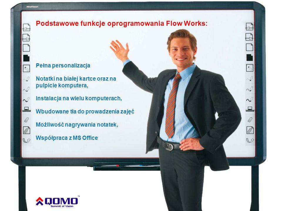 Podstawowe funkcje oprogramowania Flow Works: