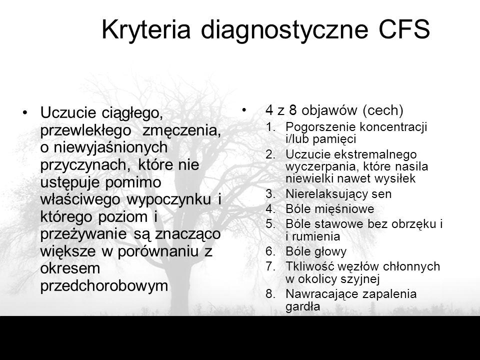 Kryteria diagnostyczne CFS