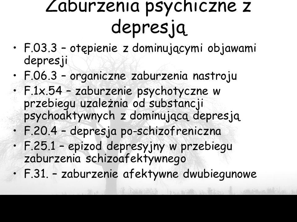 Zaburzenia psychiczne z depresją