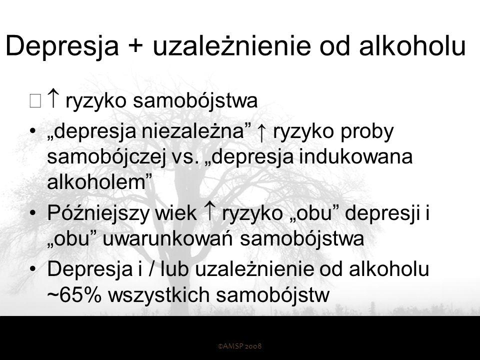Depresja + uzależnienie od alkoholu