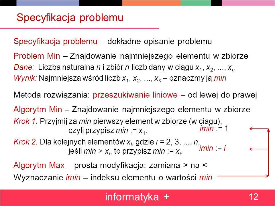 Specyfikacja problemu