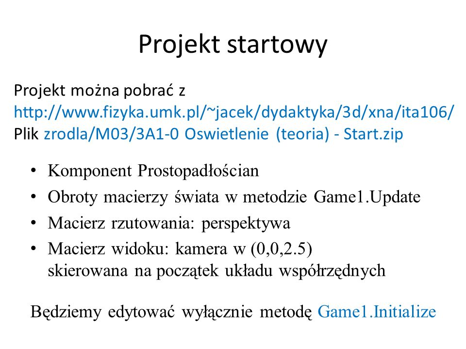 Projekt startowy