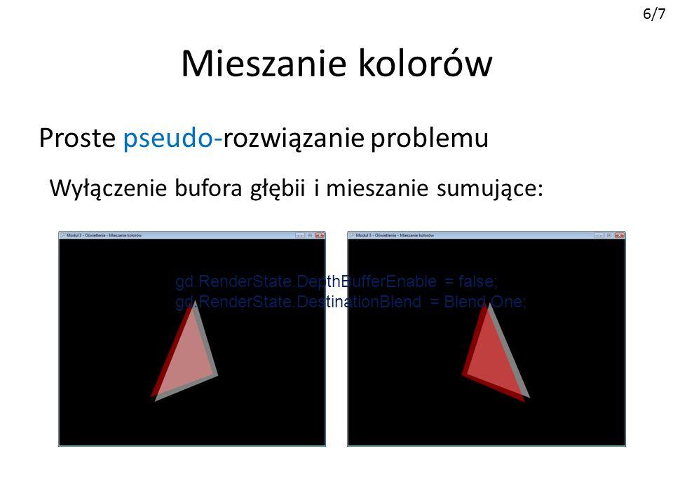 Mieszanie kolorów Proste pseudo-rozwiązanie problemu