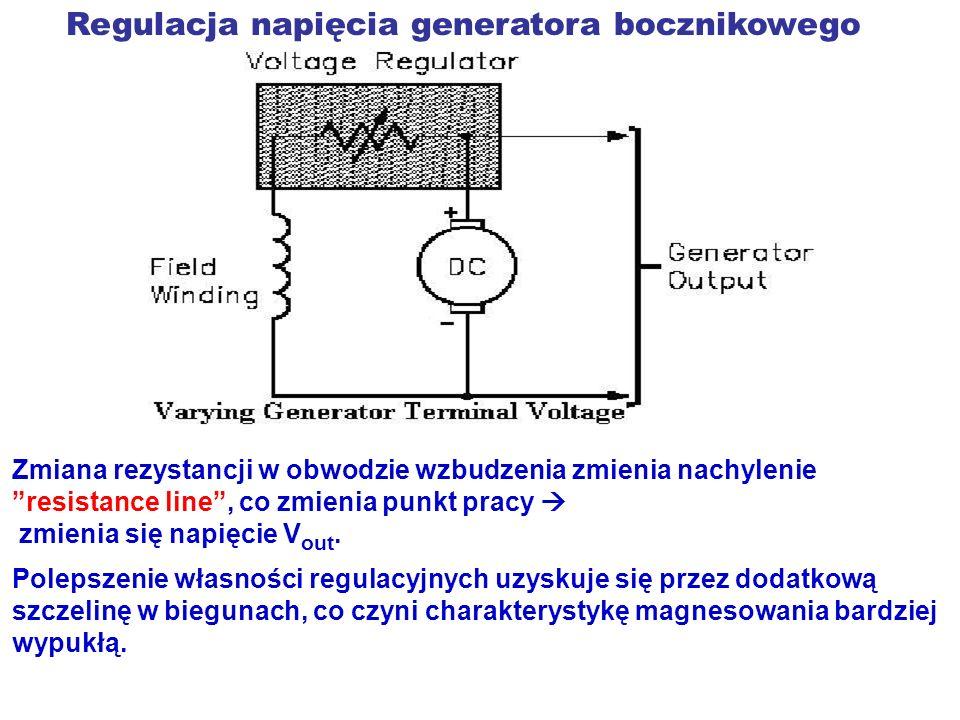 Regulacja napięcia generatora bocznikowego