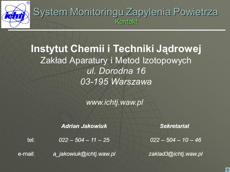System Monitoringu Zapylenia Powietrza Kontakt