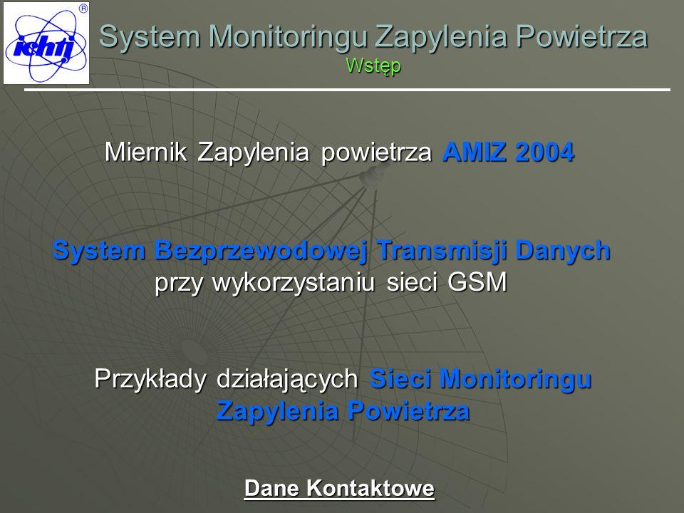 System Monitoringu Zapylenia Powietrza Wstęp