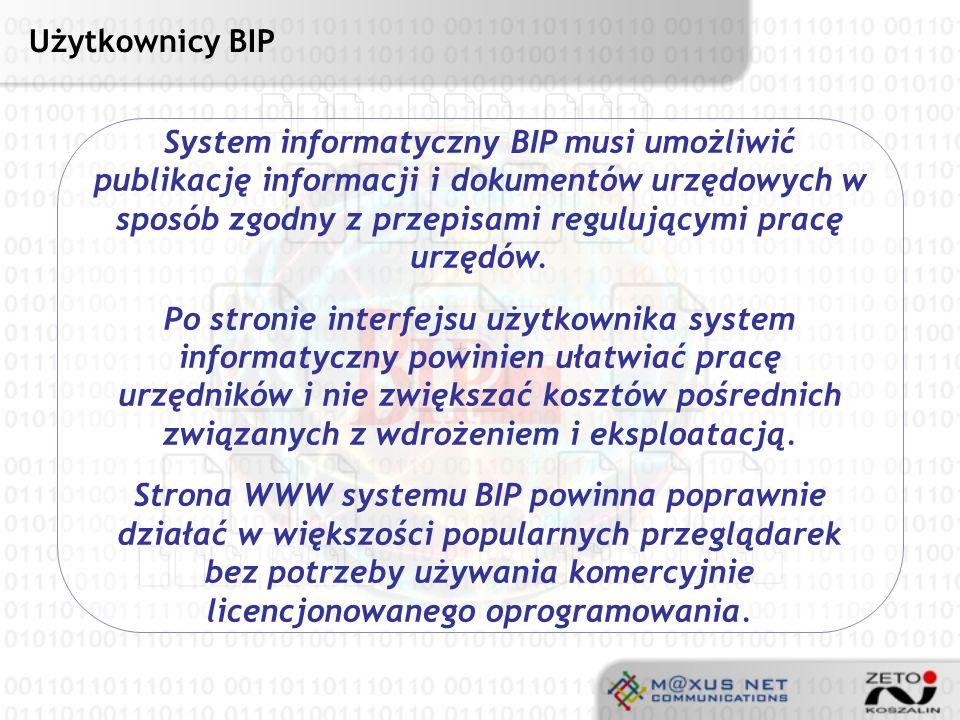 Użytkownicy BIP