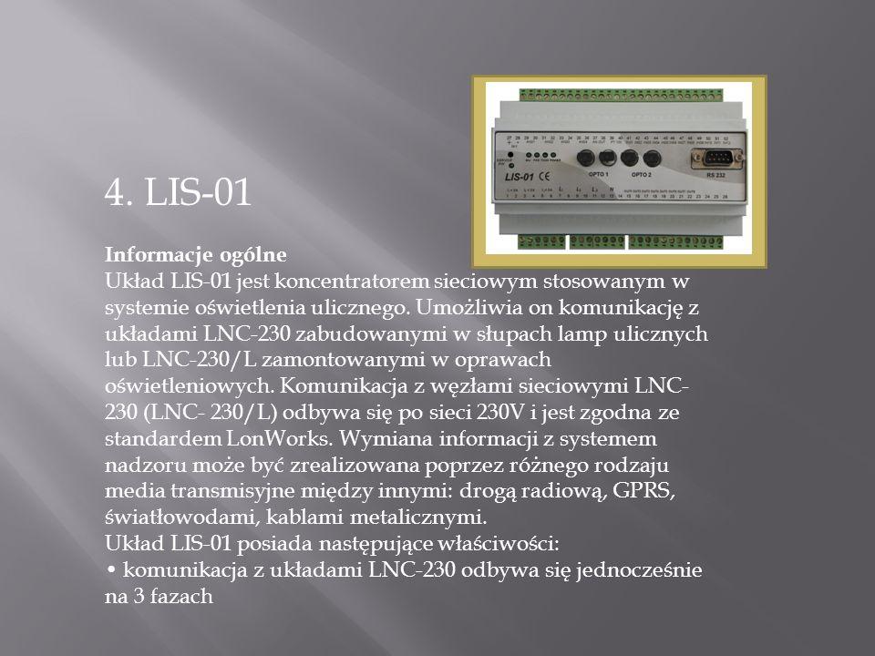 4. LIS-01 Informacje ogólne