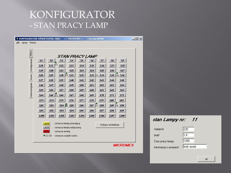 KONFIGURATOR - STAN PRACY LAMP