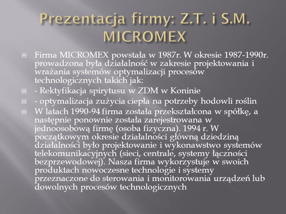 Prezentacja firmy: Z.T. i S.M. MICROMEX