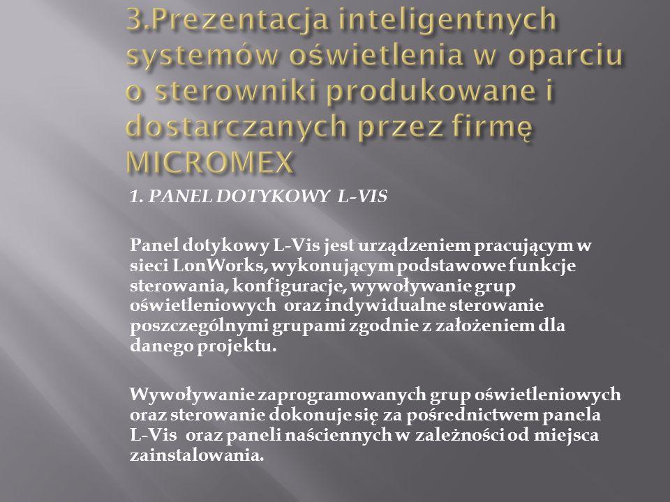 3.Prezentacja inteligentnych systemów oświetlenia w oparciu o sterowniki produkowane i dostarczanych przez firmę MICROMEX