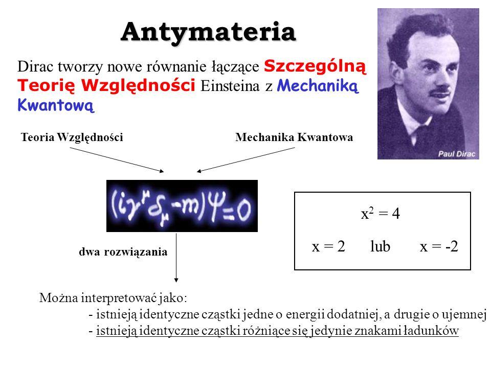 Antymateria Dirac tworzy nowe równanie łączące Szczególną